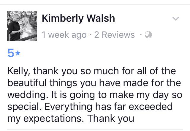 kimberley Walsh facebook Review Bridal Bling Australia