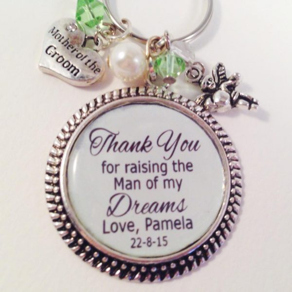 Mother of the Groom Gift. personalised key ring, keyrings personalised, personalised wedding gifts for parents