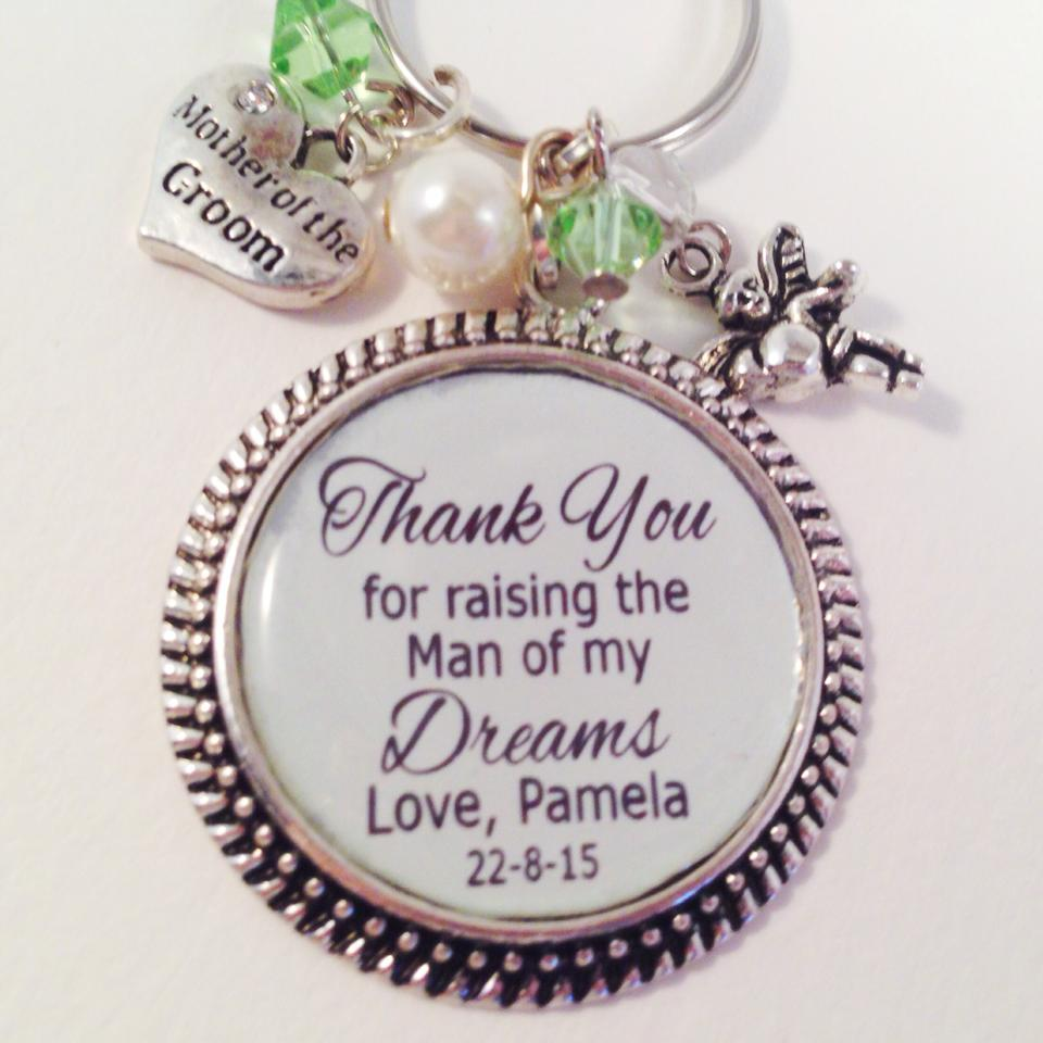 mother of the groom gift key ring bridal bling