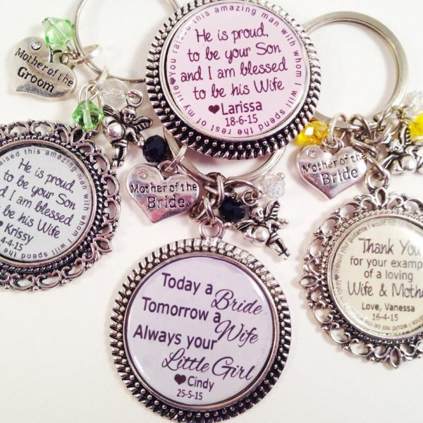 Gift for Friend, bridesmaid gift idea, personalised keyring, personalised key rings, personalised gifts Australia