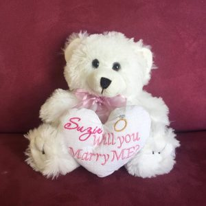 Will you marry me teddy bear, personalised teddy bear, bride teddy bear, teddy bear wedding Australia