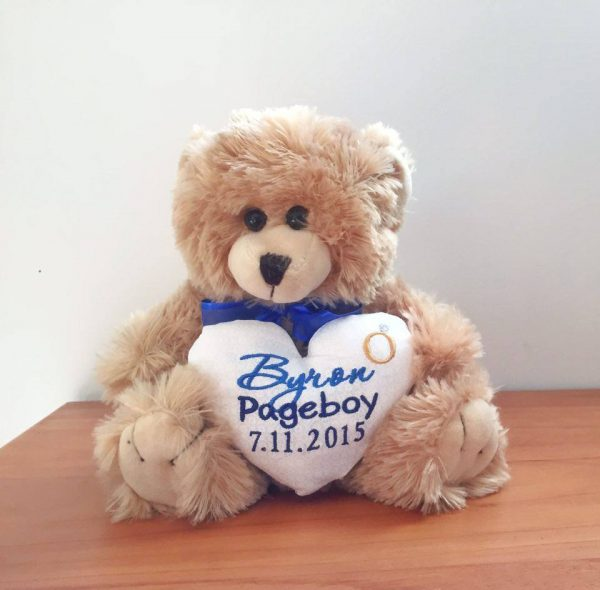 page boy teddy bear, personalised teddy bears Australia, flower girl and pageboy gifts, page boy teddy Australia