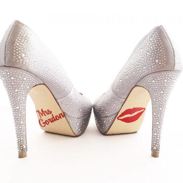 Personalised Shoe Sticker, wedding shoe decals, wedding shoe stickers, personalises wedding stickers Australia