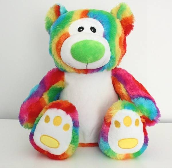 Large Rainbow Bear, rainbow teddy bear, lesbian, gay, bisexual, and transgender gift, LGBT gift, personalised rainbow bear, embroidered rainbow bear