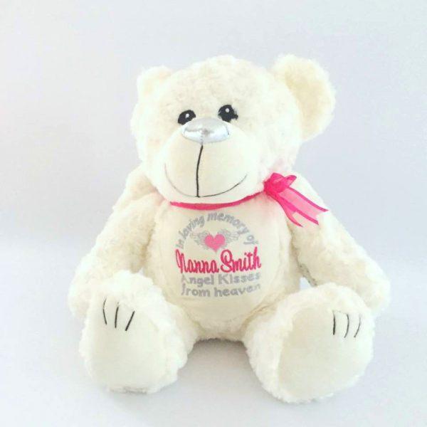 In loving Memory of, Large Memorial Angel Bear, in memorial gift, memorial gift, gift for a deceased loved one, personalised gift Australia, Memory Angel Bear