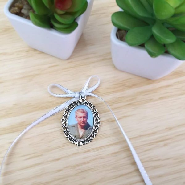 in memory of charm, bridal bouquet photo charm, gift for bride