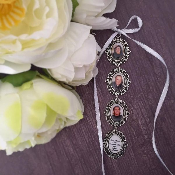 Photo Lockets, Memory Charms for Wedding Bouquet, Memorial Charms