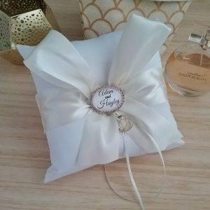 ring bearer pillow Australia, personalised ring bearer pillow, personalised ring pillow,
