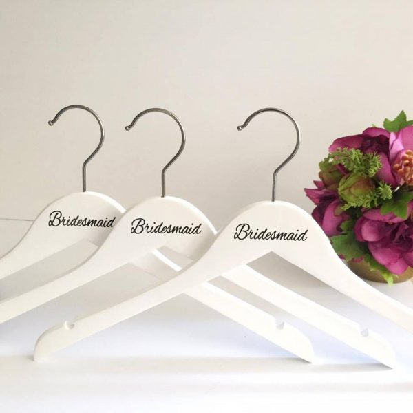 Essential Bridesmaid Coat Hangers, bridesmaid gift idea, personalised wedding hangers, Personalised Gifts Australia