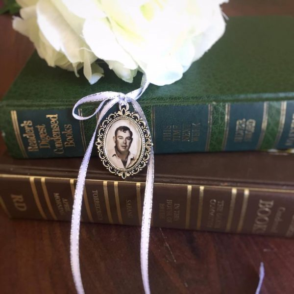 photo charm for wedding bouquet, wedding charm, memorial charm  for brides bouquet