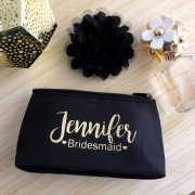 Name & Title Makeup Purse, unique wedding party gifts, personalised wedding party gifts. personalized make up bags, personalised bridesmaid gifts Australia