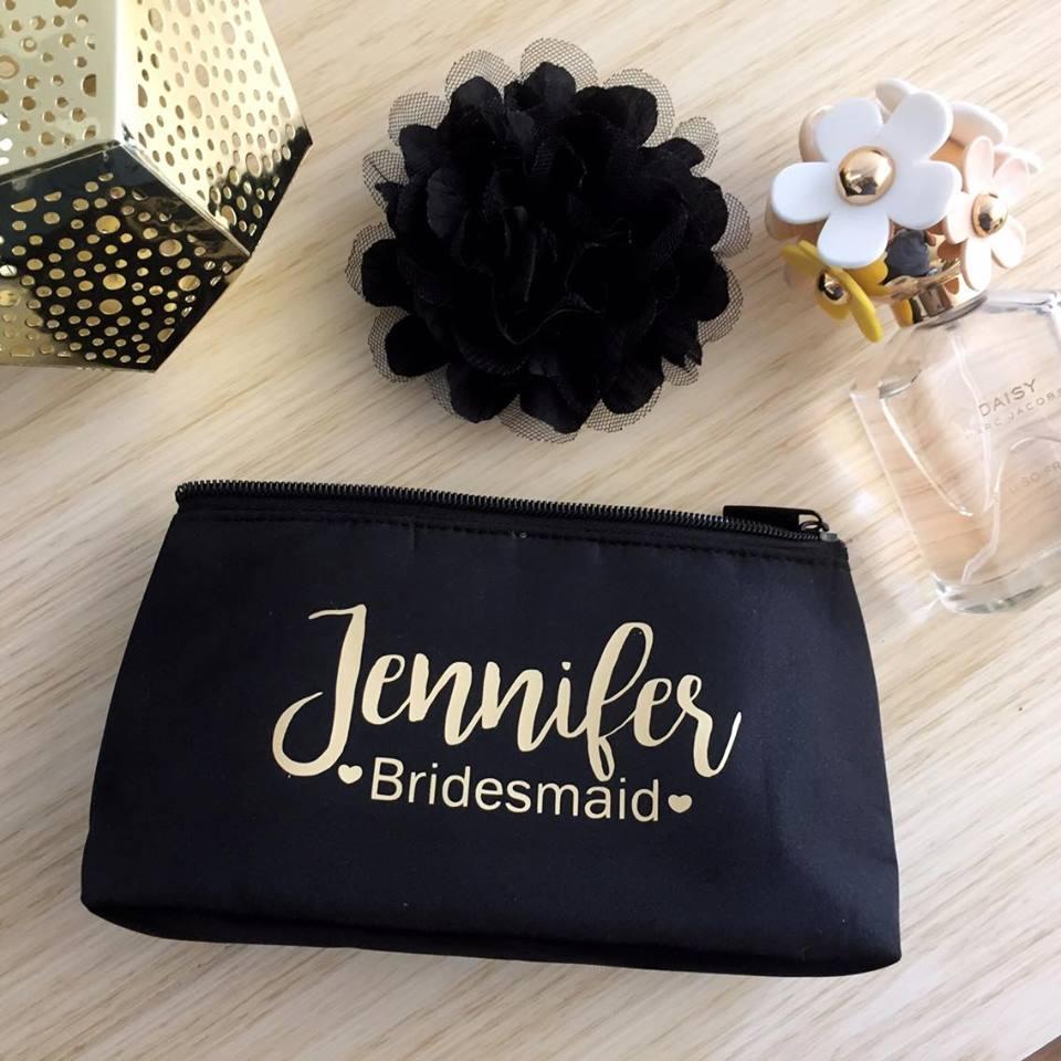 Makeup Purse Bridesmaids Gift Bridal Bling