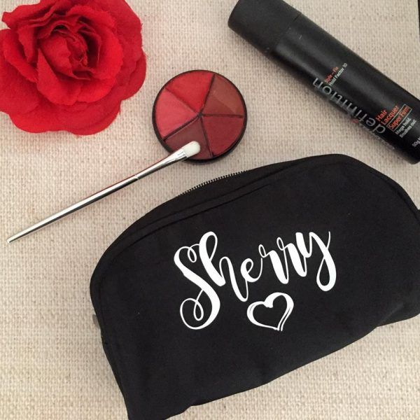 personalised make up purse, personalised purse australia, designer makeup bag, cute makeup bag