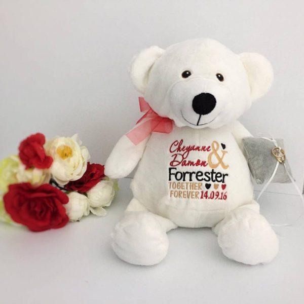 ring pillow alternative, custom teddy bear, custom wedding teddy bear, mr & mrs teddy bear, bridal bears Australia