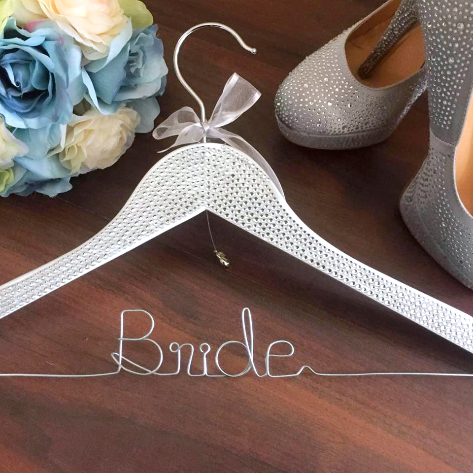 Rhinestone Bride Coat Hanger, Wedding Hanger