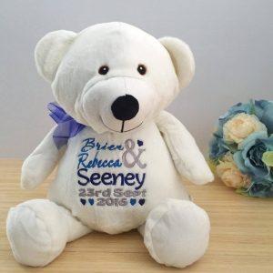personalised wedding bear, wedding gift, wedding gifts for bride from groom, personalised wedding gifts, personalised bears Australia