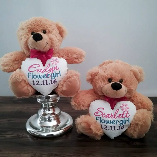 pageboy gift, wedding teddy bear, bride bear, personalised teddy bears, personalised wedding bears, personalised wedding gifts Australia