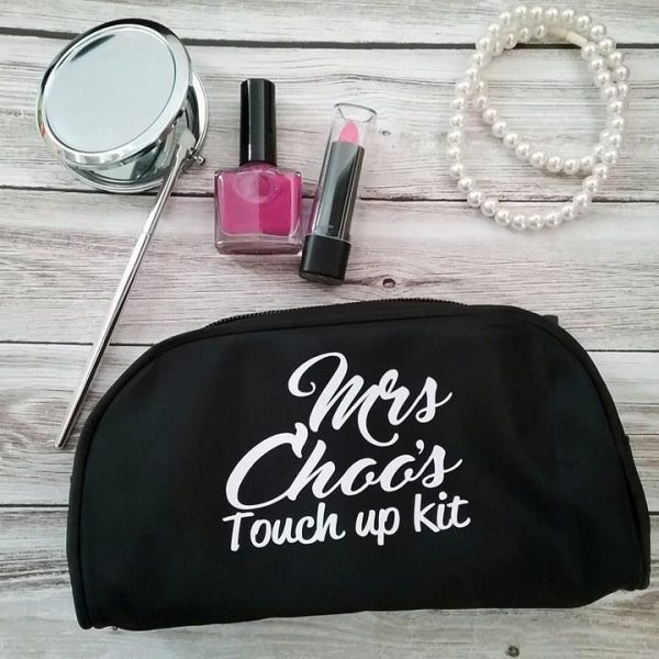 touch up kit, wedding touch up kit makeup bag, personalised touch up kit, wedding bags Australia