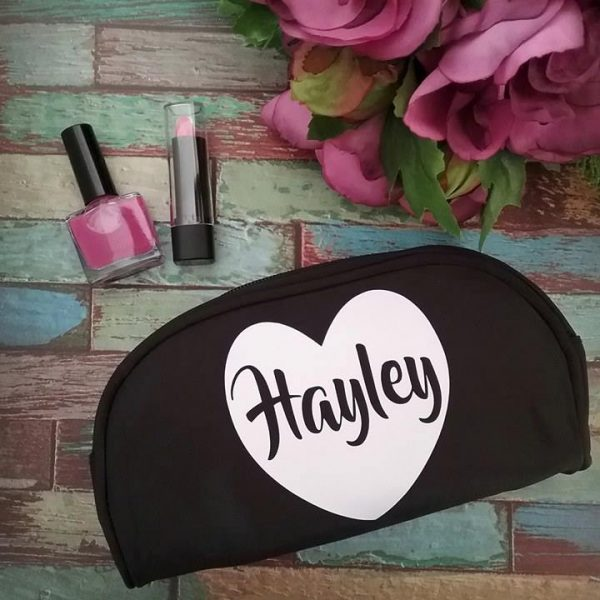 bride to be makeup bag, personalised bridesmaid makeup bag, bridal gifts australia, makeup travel bag