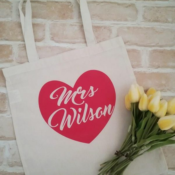 personalised tote bag, wedding tote bag, mrs tote bag