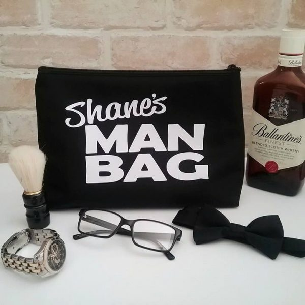 Large Man Bag with Name, mens overnight toiletry bag, gift for guy, personalised christmas gift for men, Teacher gift Australia