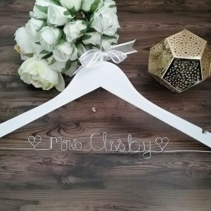 Name Wood Hanger, name hangers for wedding, personalised bridesmaid hangers, bridal hangers with name