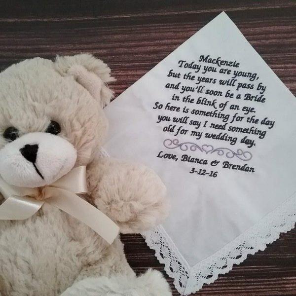 Flowergirl Handkerchiefs, Flower girl personalised hanky, wedding hanky, flower girl gift, flower girl handkerchief, embroidered hanky Australia
