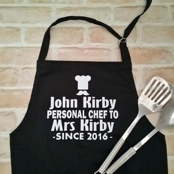 Personal Chef Apron, Funny Aprons Australia, personalise apron, Cooking Apron for him, personalised Gift for him, 2nd anniversary gift, cotton gift