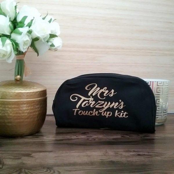 Brides touch up kit makeup bag, touch up kit for bride, makeup bag touch up kit, personalised makeup purse Australia