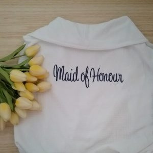 Robe with Title on Back, maid of honour gift, bride and maid of honour robes, bride bridesmaid robes Australia