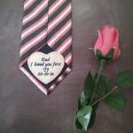 custom suit label, personalised tie label, dad wedding label, groom tie patch, personalised father of the bride gift