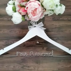 Name Wood Hanger, wedding hangers with name, custom wedding hangers, personalised coat hangers, bridal hangers Australia