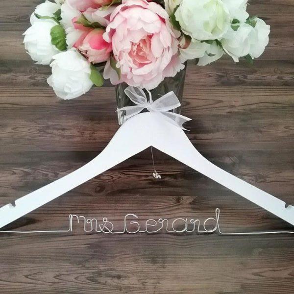 Name Wood Hanger, wedding hangers with name, custom wedding hangers, personalised coat hangers, bridal hangers Australia