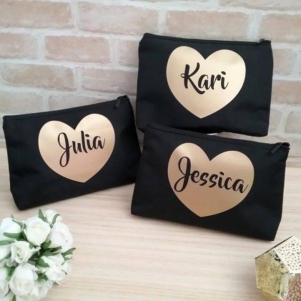 brides gift, personalized makeup bag, makeup travel bag, wedding gifts australia