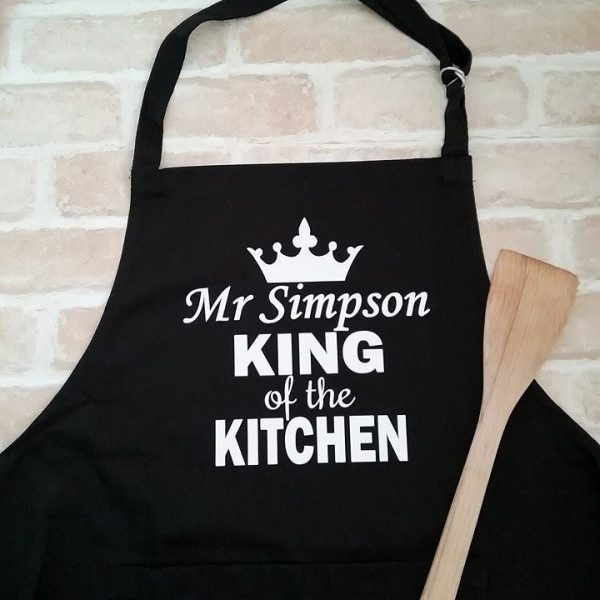 Personal Apron, Apron Personalised for him, Wedding anniversary gift for him, cotton wedding anniversary gifts
