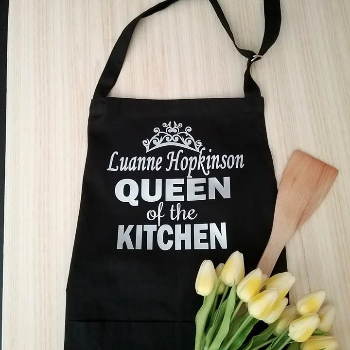 Queen of the Kitchen Apron, Funny Aprons | Bridal Bling