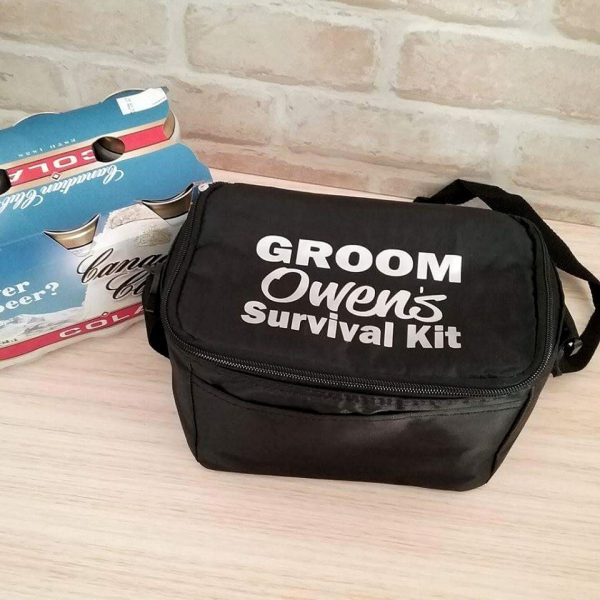 wedding survival kit for groom, emergency kit for bridal party, personalised coolers, gifts for groom, wedding gifts Australia