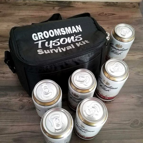 Groomsman Survival Kit Cooler, bestman gifts, gift for groom, Emergency kit for groom and groomsmen
