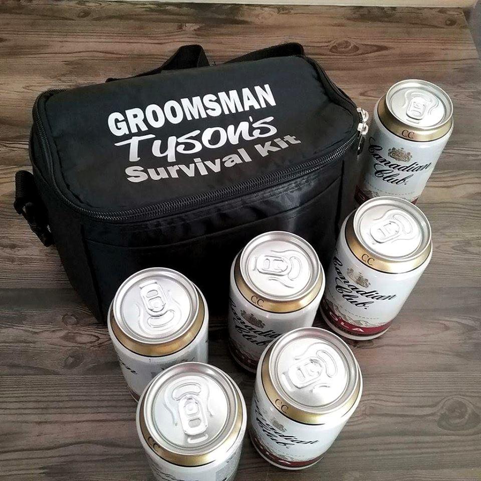 Groomsman Survival Kit Cooler | Bridal Bling