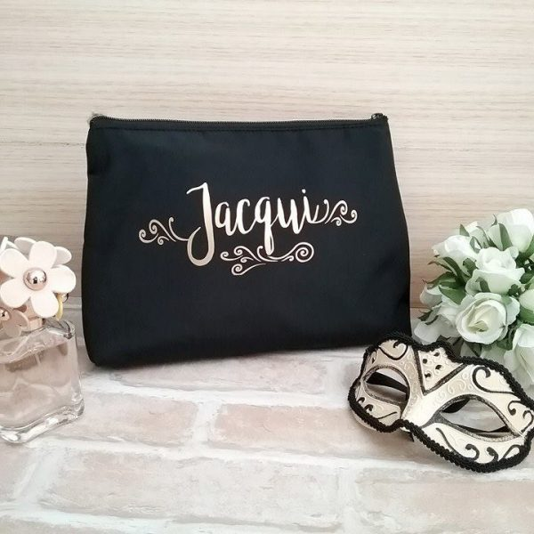gift for sister, personalised wedding, personalised toiletry bag, bridal bing australia