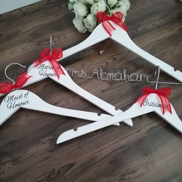 personalized hangers for bridesmaids, hangers with names, bridesmaid and groomsmen gifts, Bridal Bling Australia