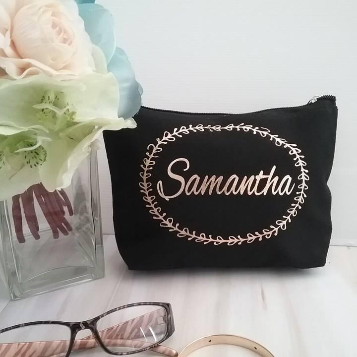 Elegant Makeup Bag Bridal Bling