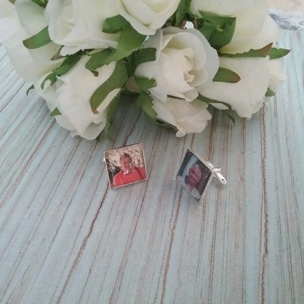 Photo cufflinks, wedding cufflinks, father of the bride cufflinks, father of the groom gift