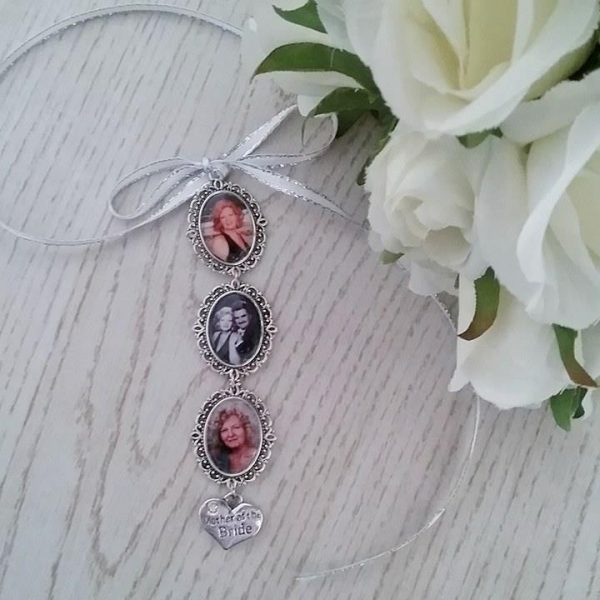 memory charm, photo charm for wedding, brides photo charms