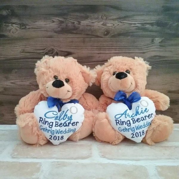 page boy teddy bear, wedding teddies, personalised wedding teddy bear,, page boy gifts Australia