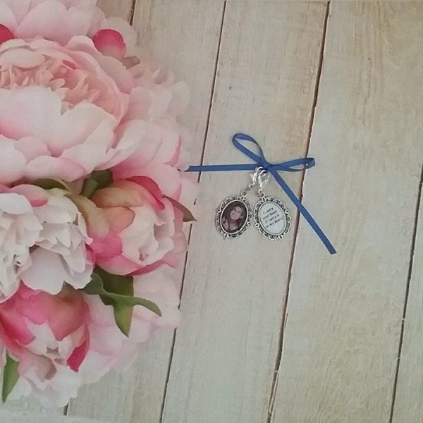 personalised photo charms for shoes, wedding shoe charms, something blue for wedding