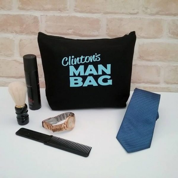 personalised gift for men, mens personalised toiletry bag, personalised christmas gifts for men