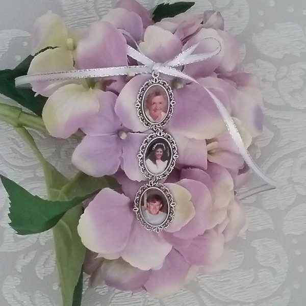 memory charms for wedding bouquet, Wedding Bouquet Picture Frame Charm, custom photo charm for weddings