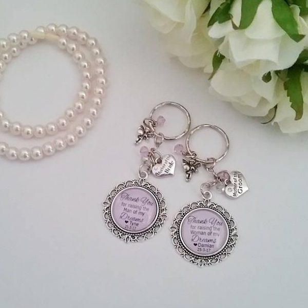 mother of the bride gift, wedding gift, personalised key rings, wedding gifts Australia