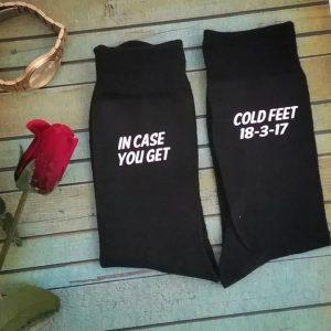 Cold Feet Socks, Groom Cold Feet Socks, so you don't get cold feet socks, cold feet groom socks